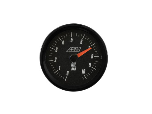 AEM Analog 0-10.2BAR Oil Pressure Gauge