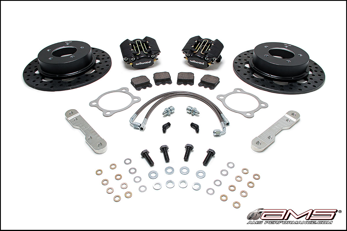 AMS/Wilwood Mitsubishi Lancer Evolution X Lightweight Brake Kit [Rear]